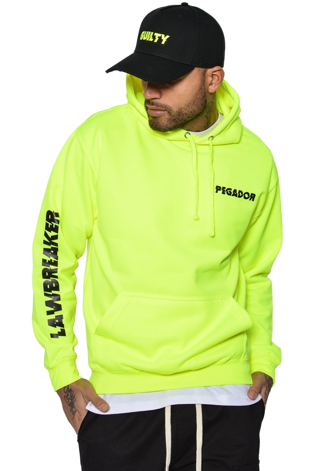 Guilty Hoodie Electric Yellow Hoodies PEGADOR