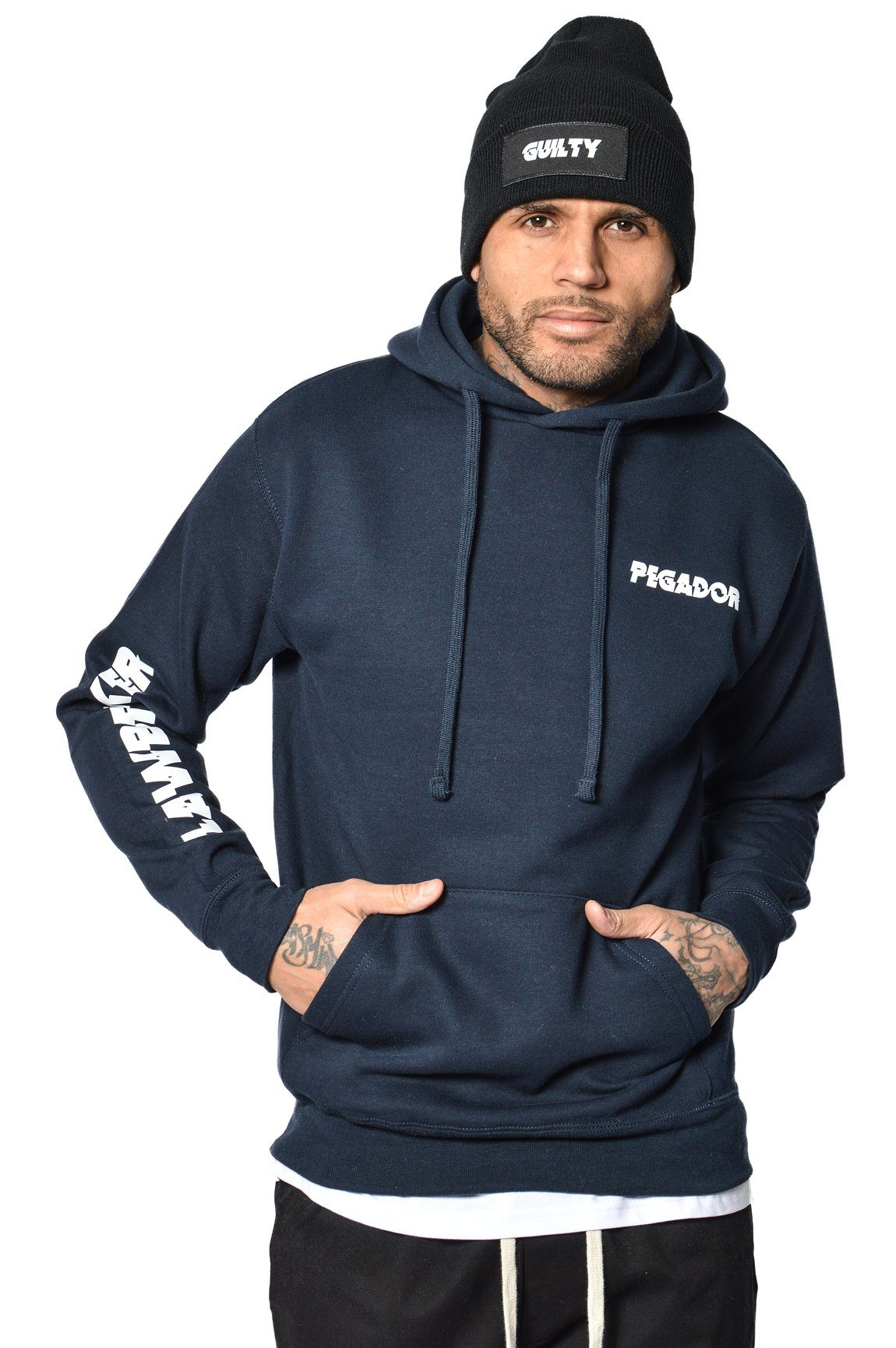 Guilty Hoodie French Navy - PEGADOR - Dominate the Hype