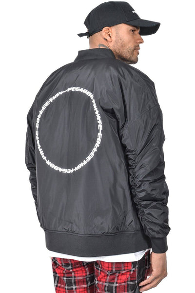 Helio Printed Bomber Jacket Black - PEGADOR - Dominate the Hype