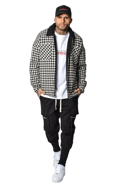 Flano shearling Jacket Black White - PEGADOR - Dominate the Hype