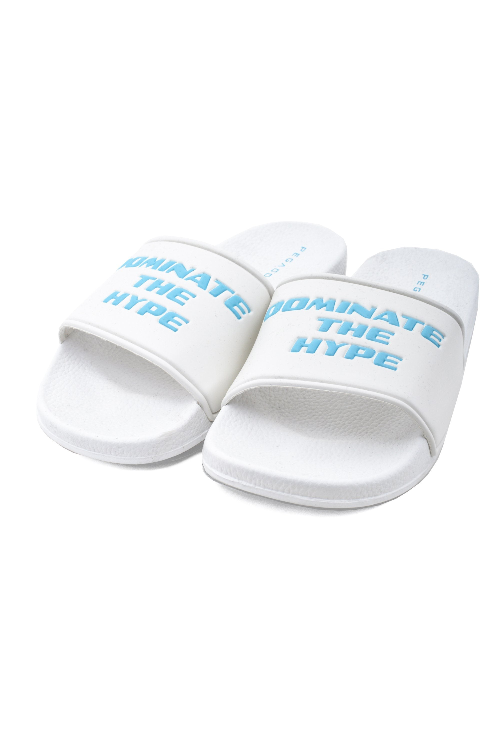 Dominate The Hype Sliders White Shoes PEGADOR