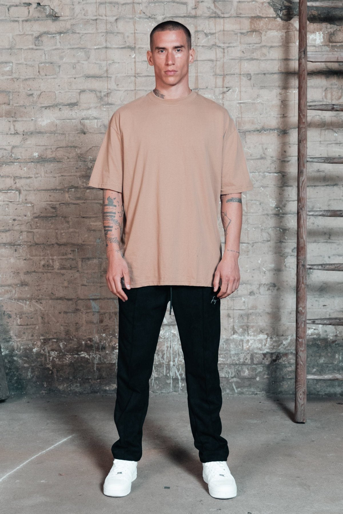 Oversized Tee Washed Taupe T-SHIRT One blood