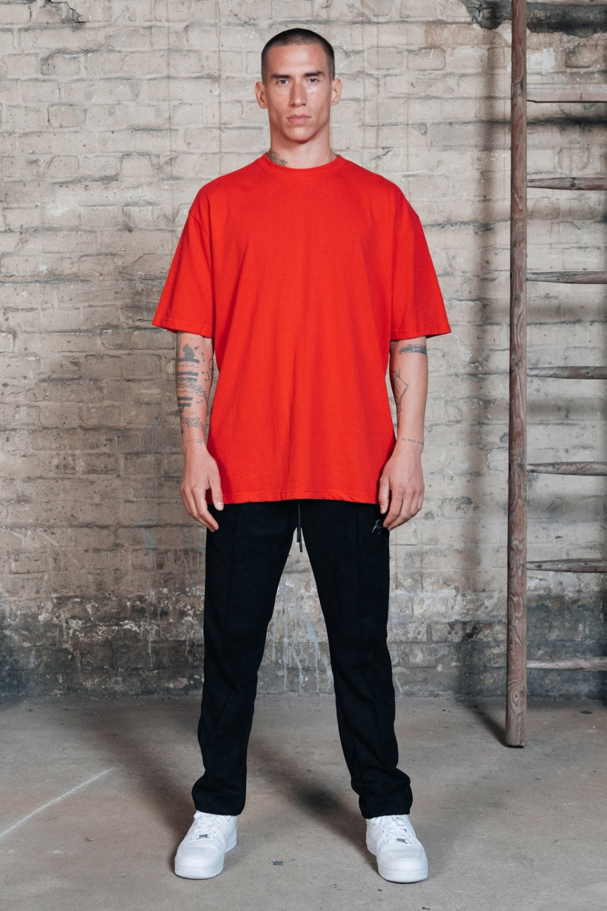 Oversized Tee Washed Blood Red T-SHIRT One blood
