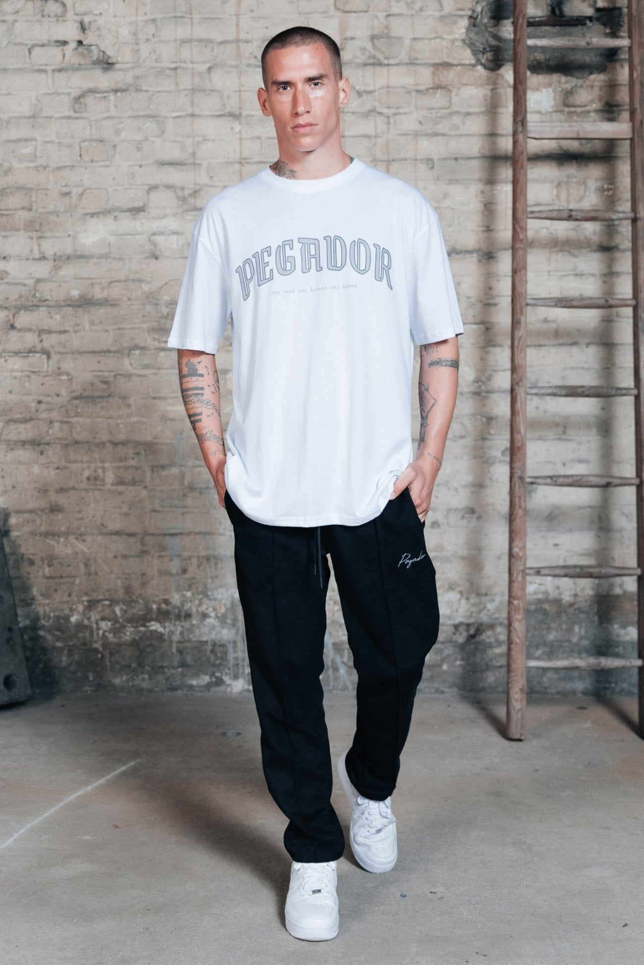 Portland Oversized Tee White T-SHIRT One blood