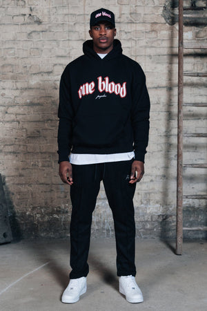 One blood - Oneblood Oversized Hoodie Black - $79.95