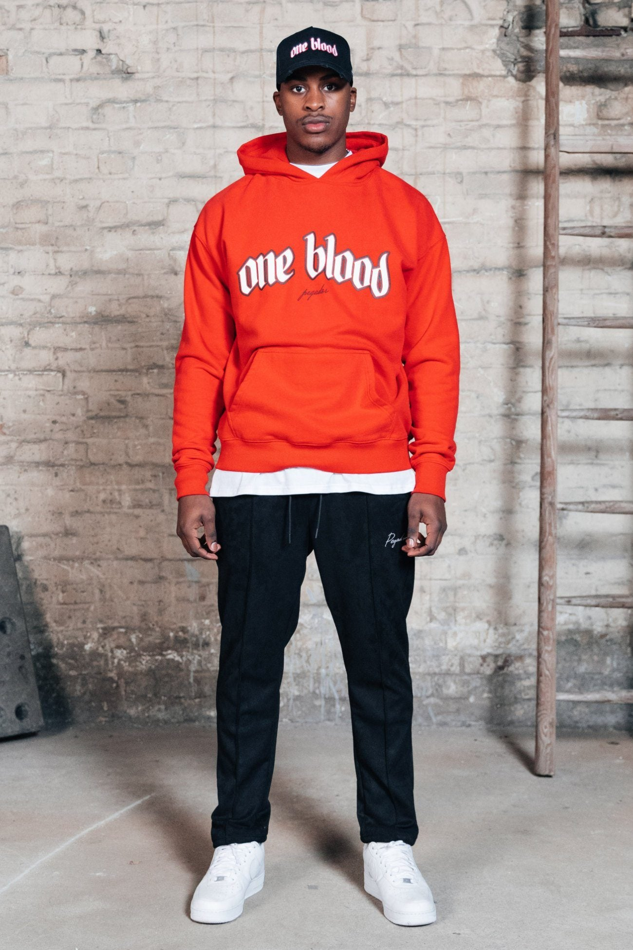 Oneblood Oversized Hoodie Washed Blood Red Hoodies One blood