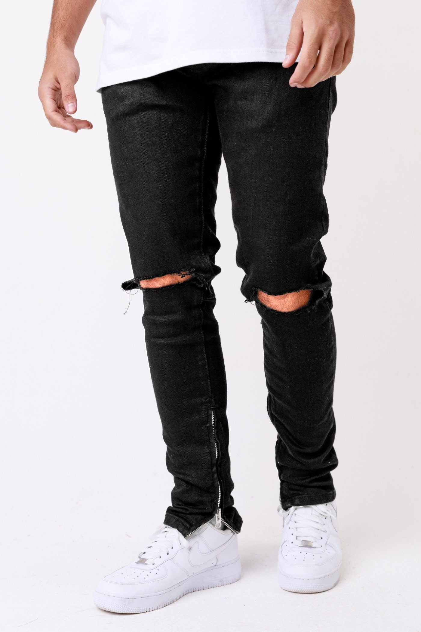 Mitu Distressed Jeans Black Jeans One blood