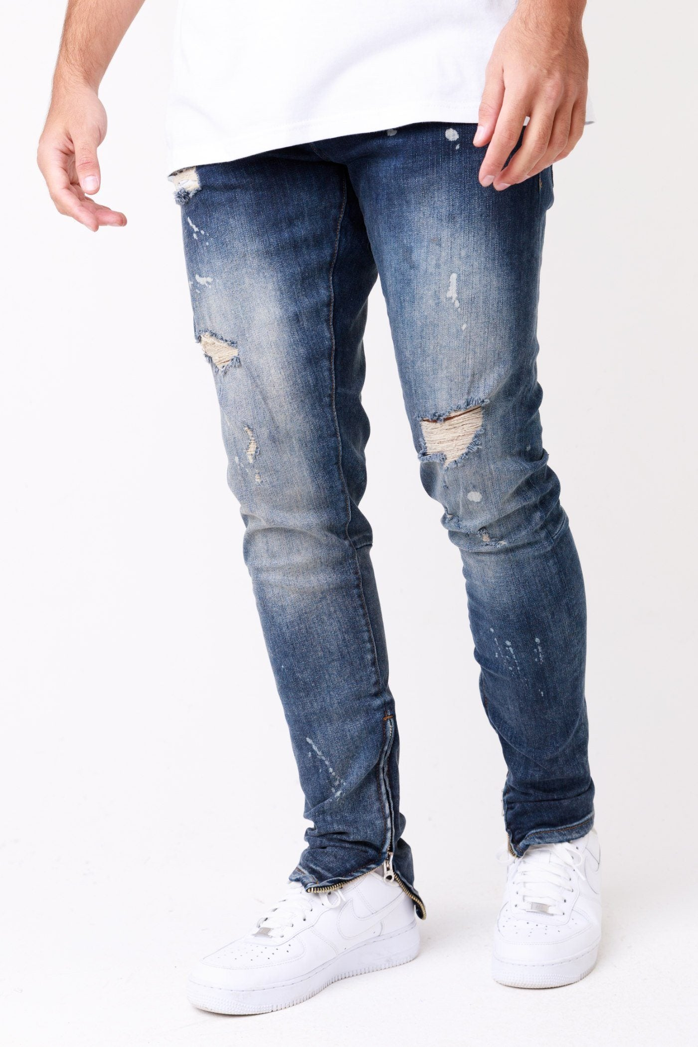 Alvor Distressed Jeans Bleached Blue Jeans One blood