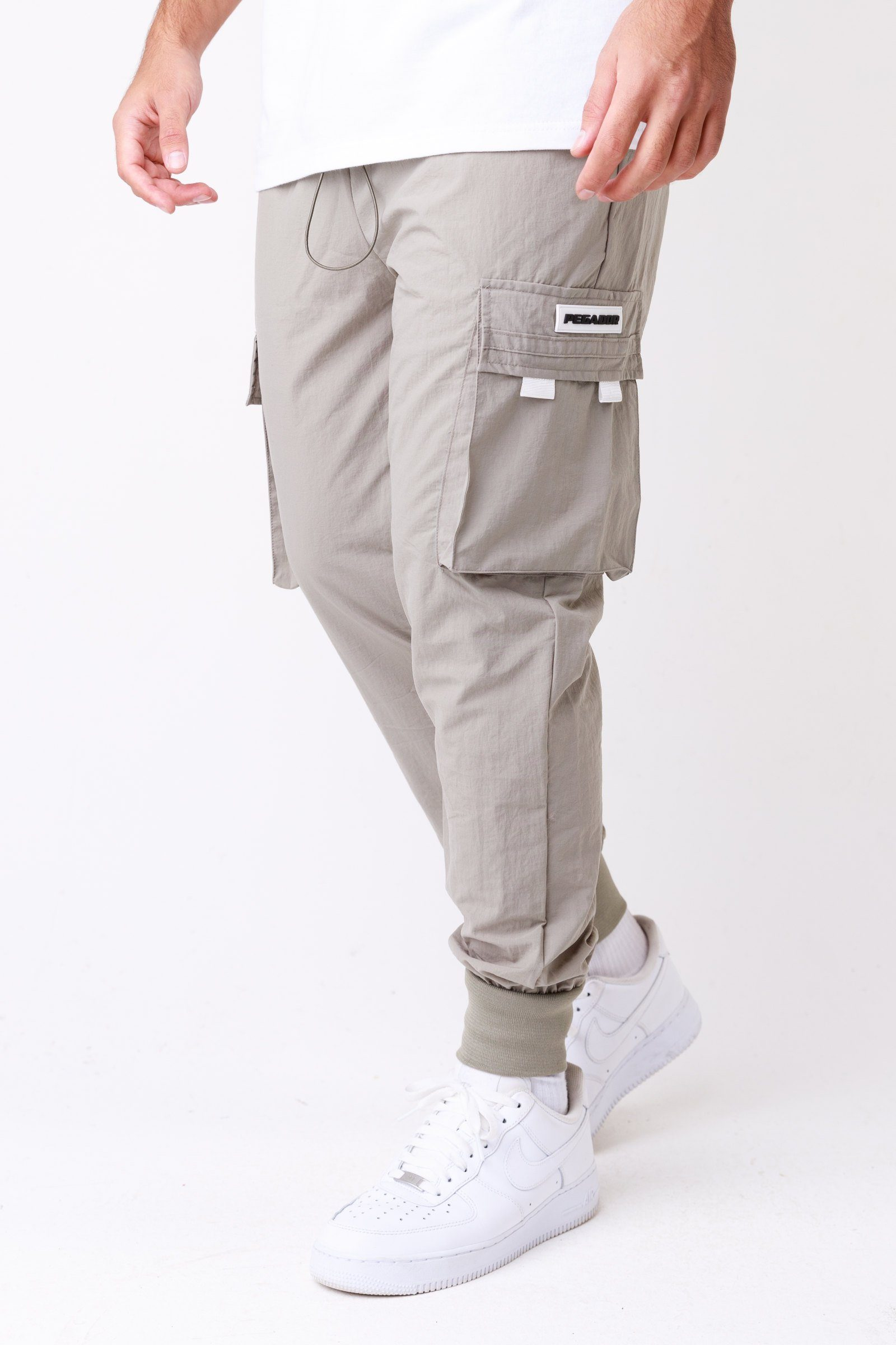 Reno Woven Cargo Pants Khaki BOTTOMS One blood