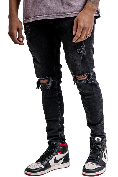 Rhine Destroyed Jeans Black