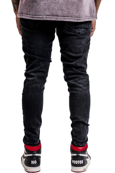 Rhine Destroyed Jeans Black - PEGADOR - Dominate the Hype