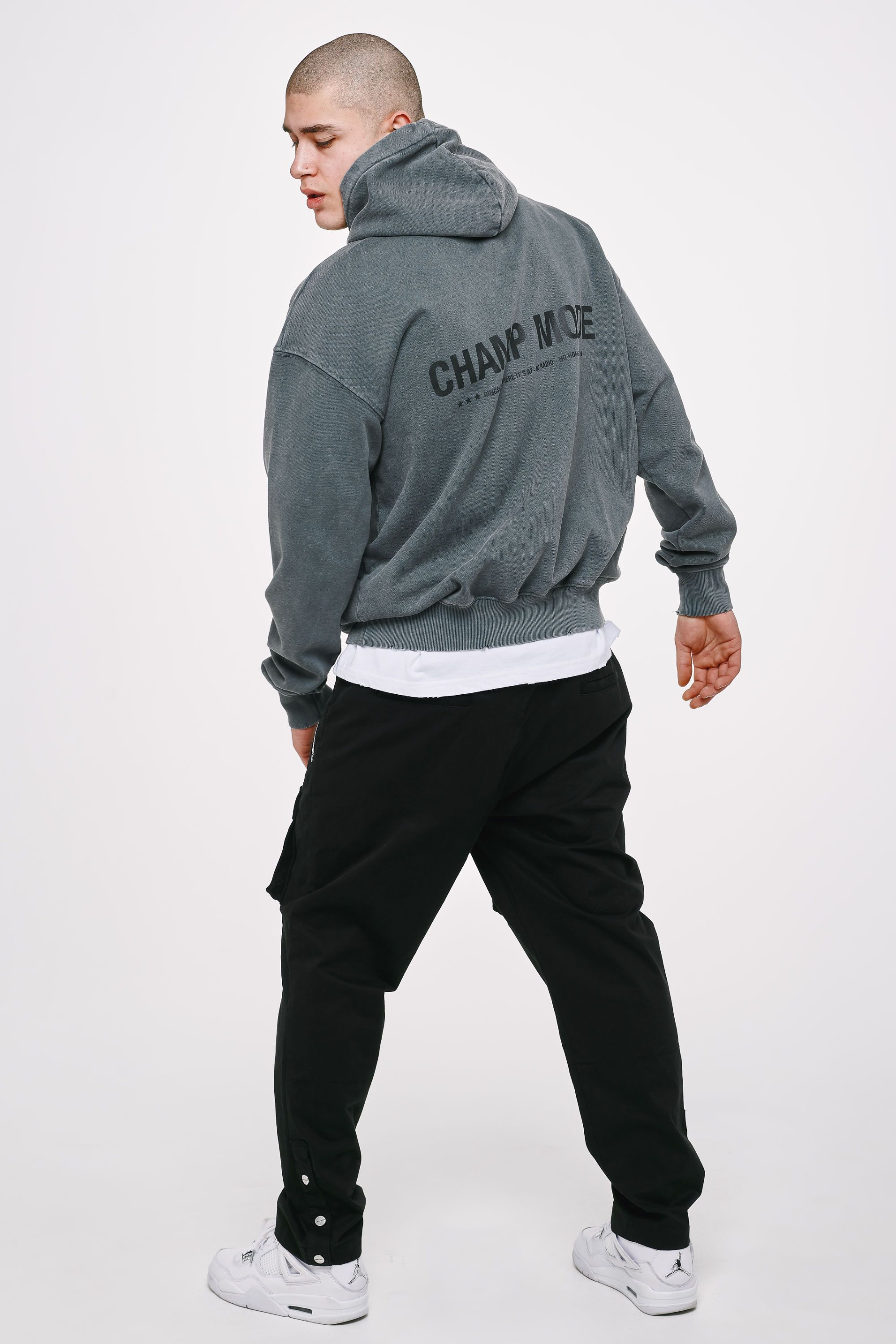 Mike Oversized Hoodie Vintage Grey Hoodies Heavyweight Champions