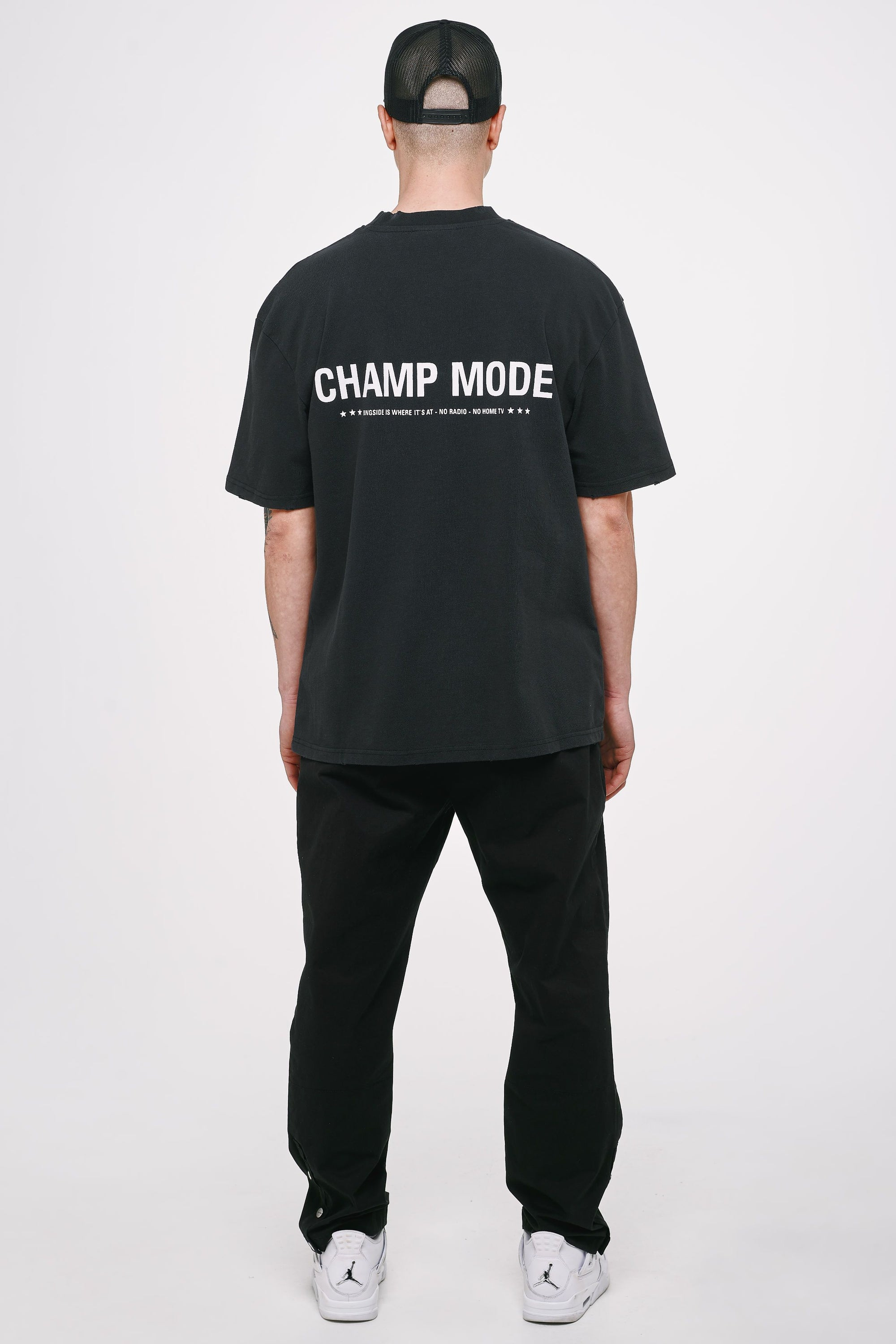 Mike Oversized Tee Vintage Black T-SHIRT Heavyweight Champions