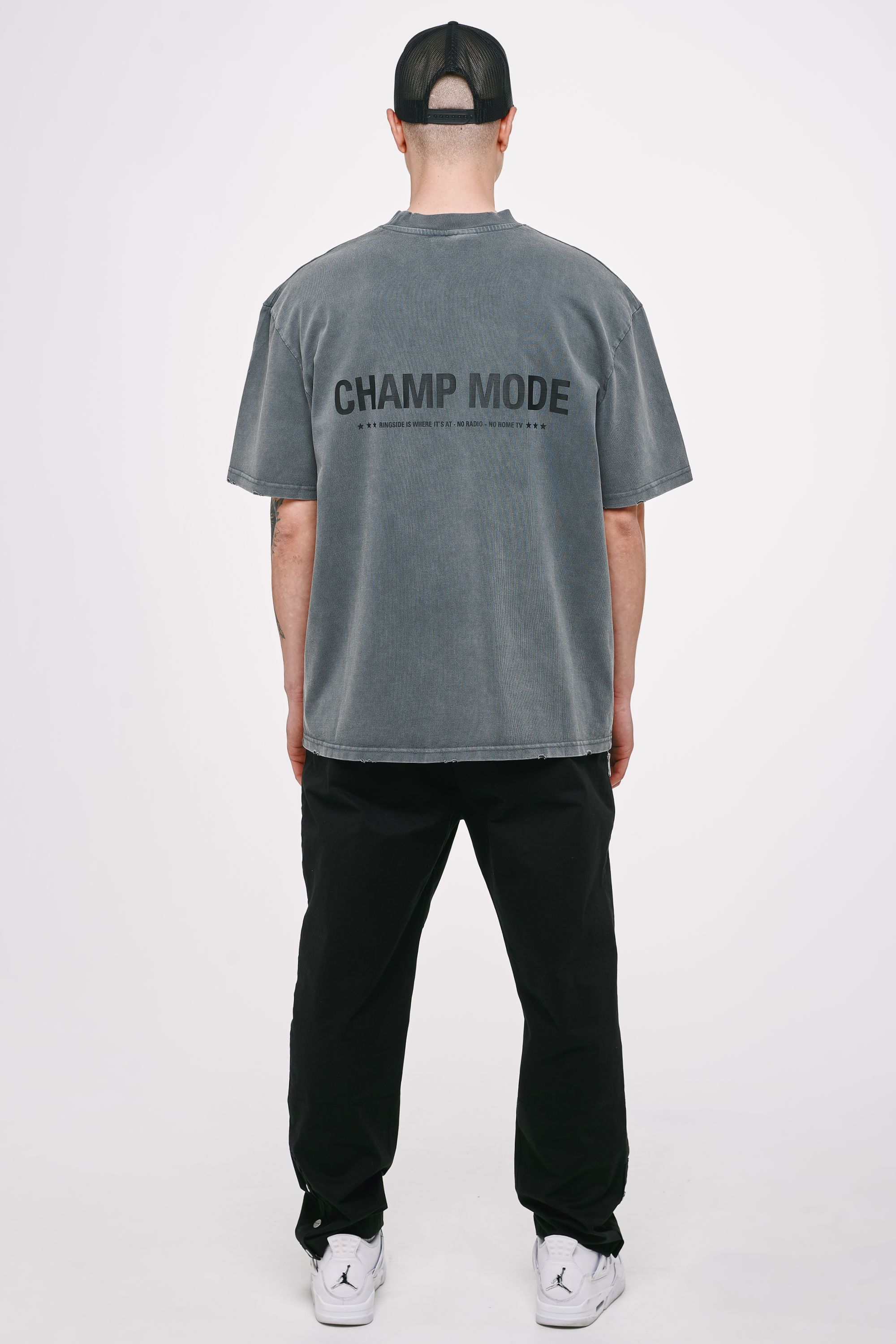 Mike Oversized Tee Vintage Grey T-SHIRT Heavyweight Champions