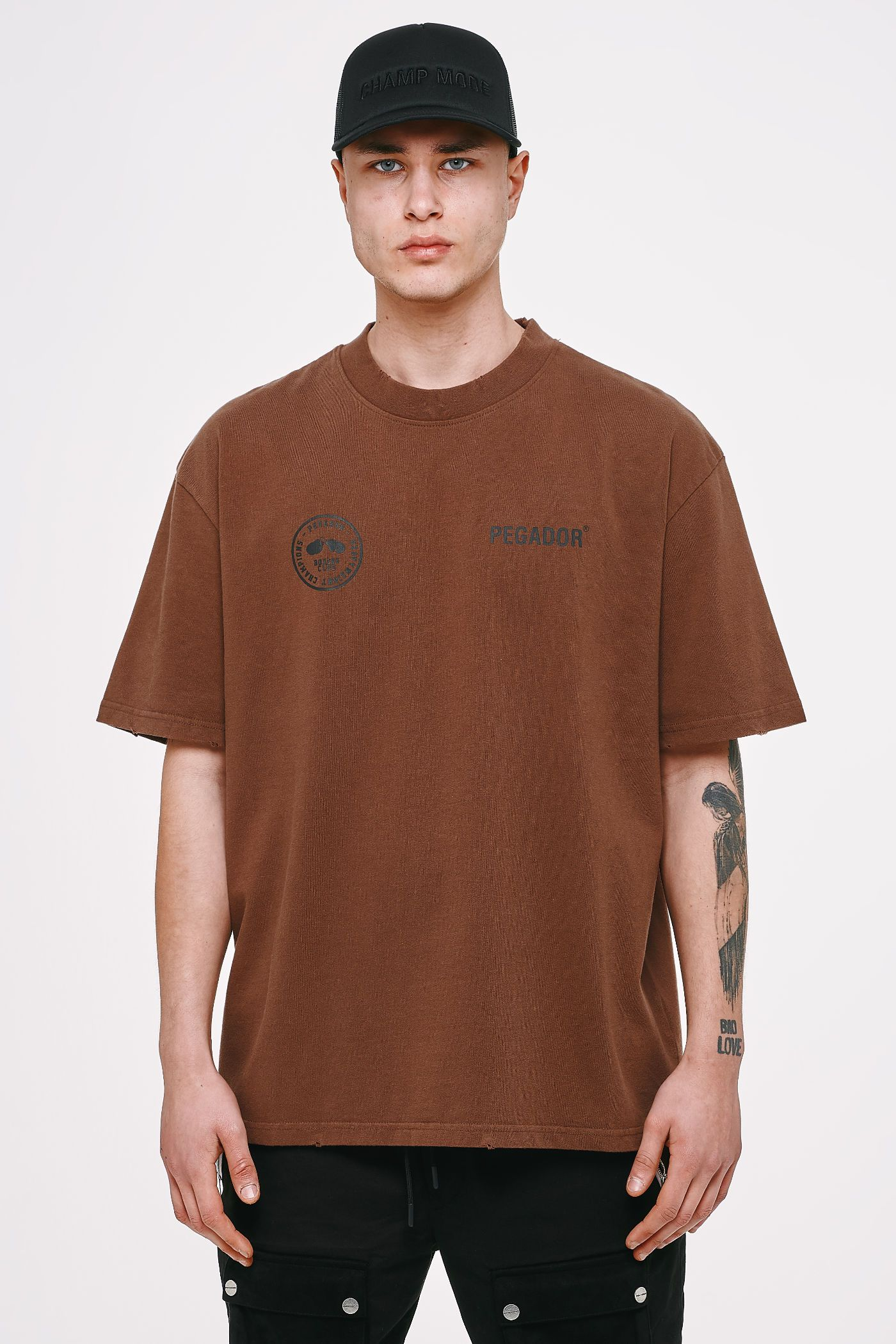 Mike Oversized Tee Vintage Brown T-SHIRT Heavyweight Champions