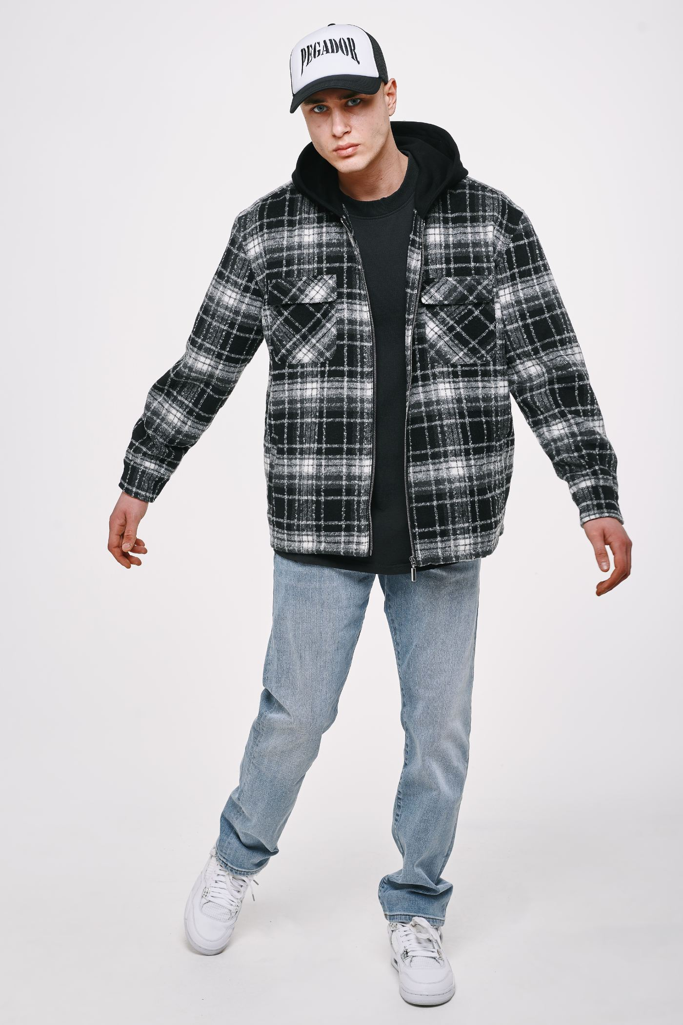 Fontana Hooded Hairy Flannel Jacket Black JACKET Heavyweight Champions