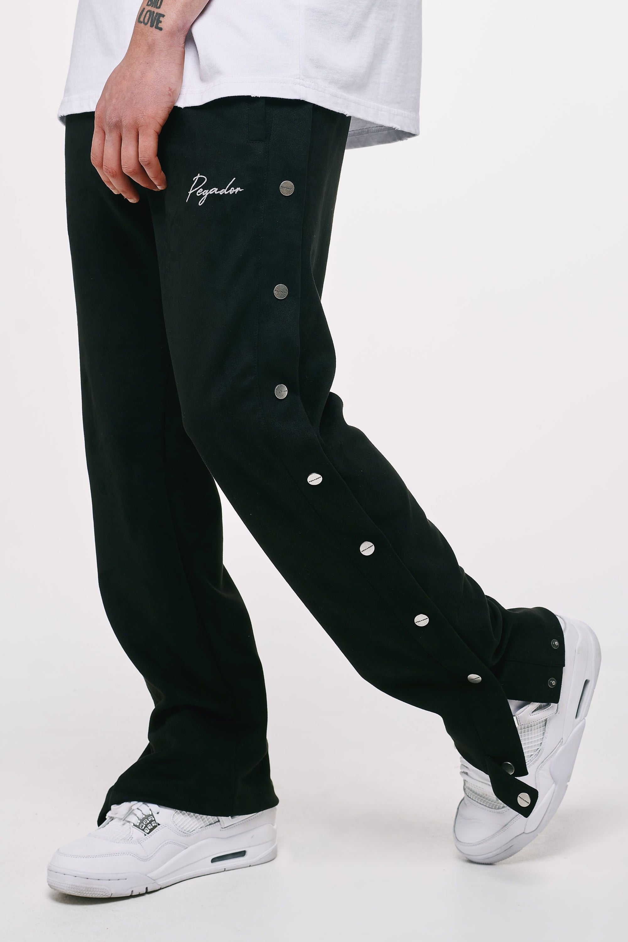 Suede Button Pants Black BOTTOM Heavyweight Champions
