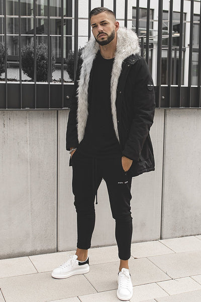 Arctic Parka Black & White Fur - PEGADOR - Dominate the Hype