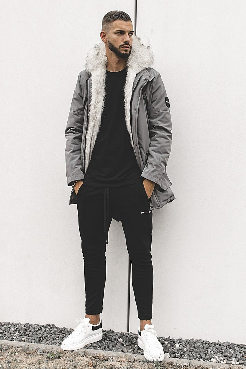 Arctic Parka Space Grey & White Fur - PEGADOR - Dominate the Hype