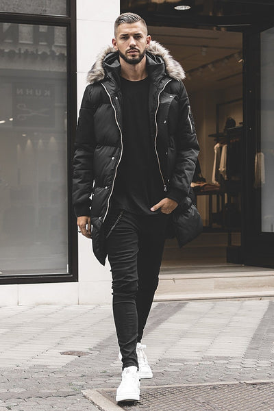Lonzo Puffer Parka Black - PEGADOR - Dominate the Hype