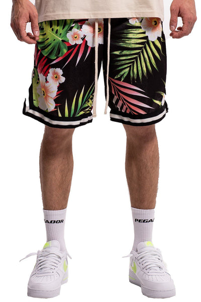 Terrence Flower Mesh Shorts - PEGADOR - Dominate the Hype