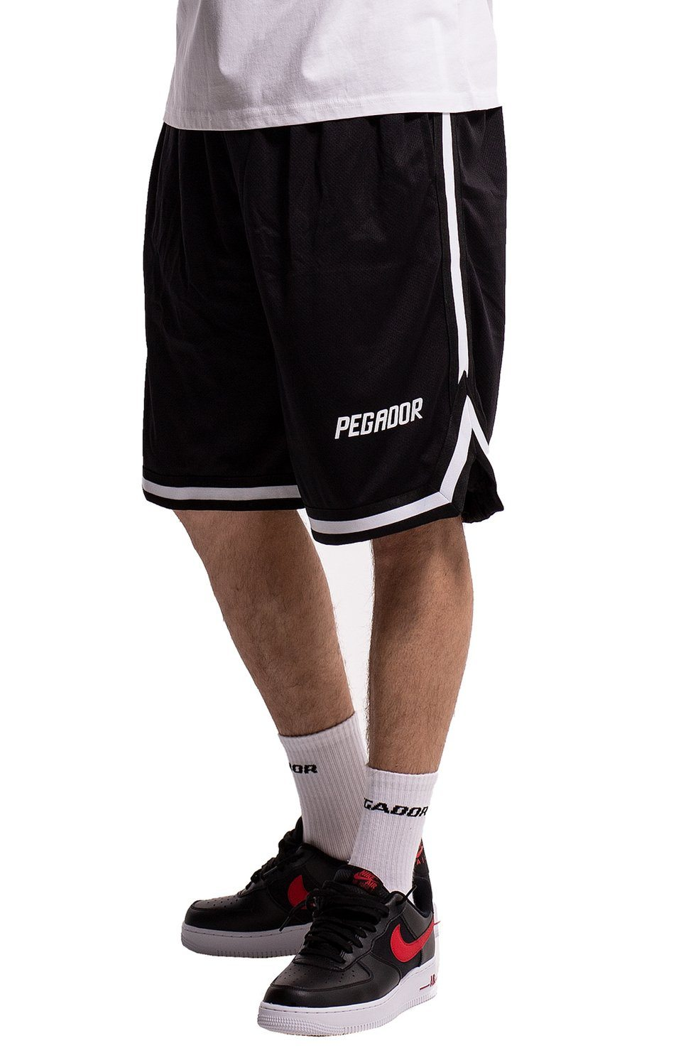 Eddie Mesh Shorts Black - PEGADOR - Dominate the Hype