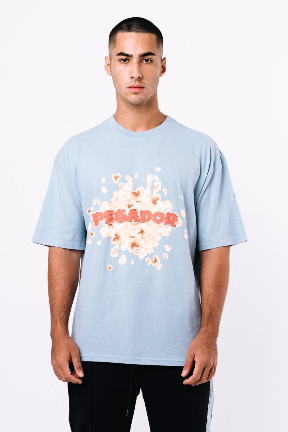 Wells Oversized Tee Washed Baby Blue T-SHIRT PEGADOR