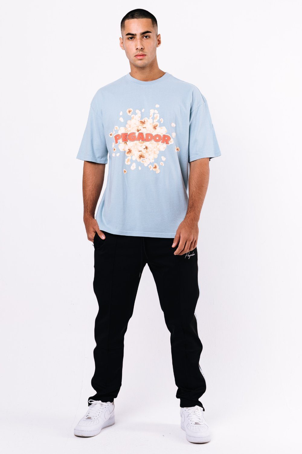 Wells Oversized Tee Washed Baby Blue