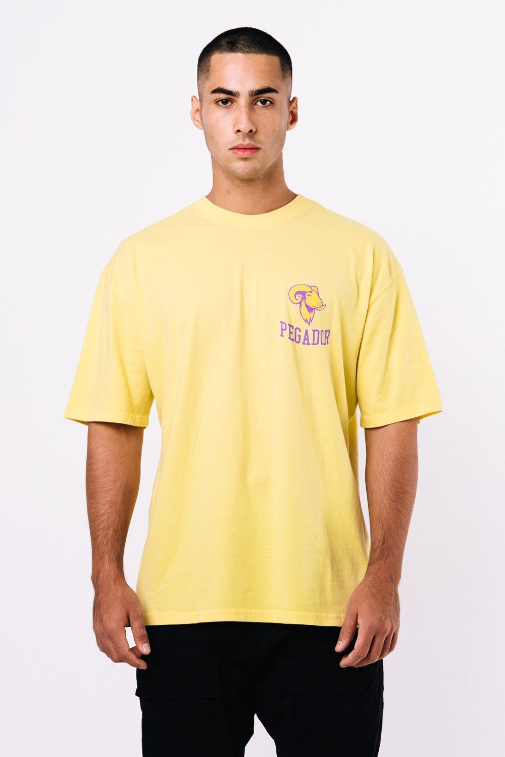 GND Oversized Tee Washed Lemon