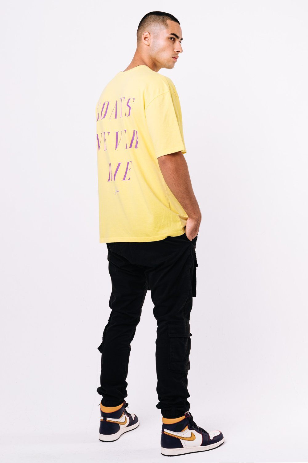 GND Oversized Tee Washed Lemon T-SHIRT PEGADOR