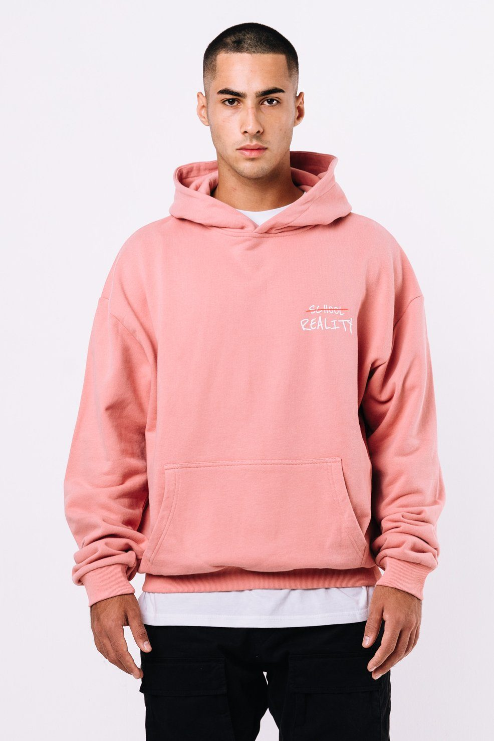 Oxford Oversized Hoodie Coral