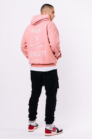 SCHOOL´S OUT - Oxford Oversized Hoodie Coral - $79.95