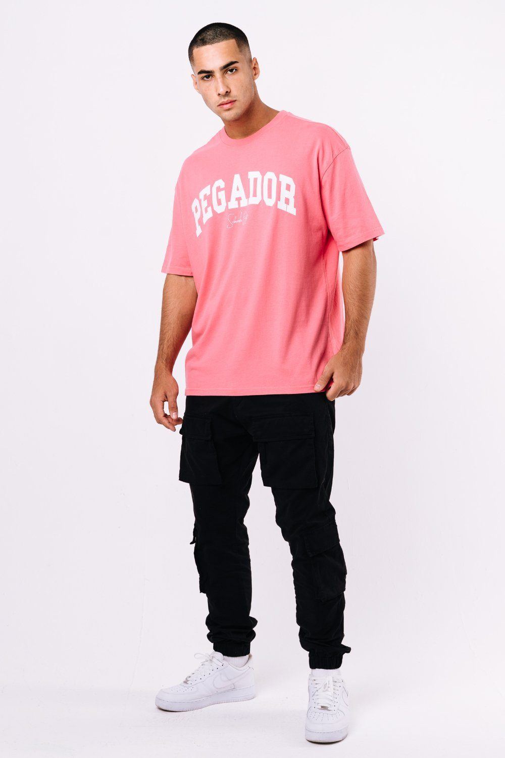 Vista Oversized Tee Washed Strawberry