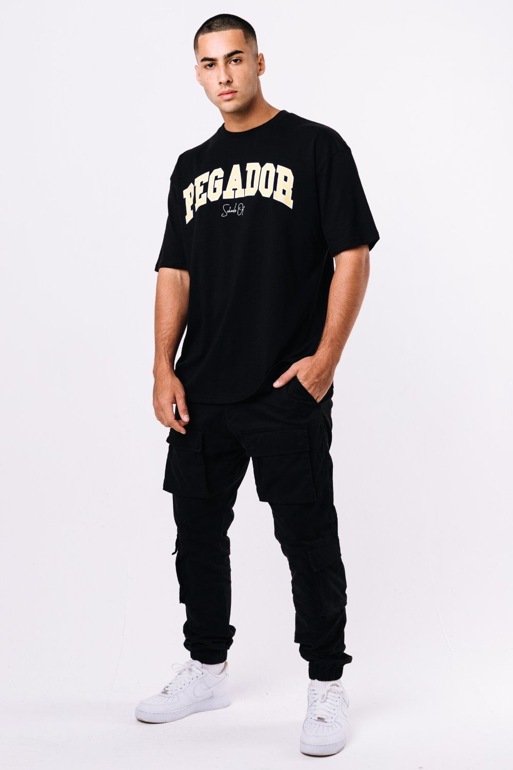 Vista Oversized Tee Black