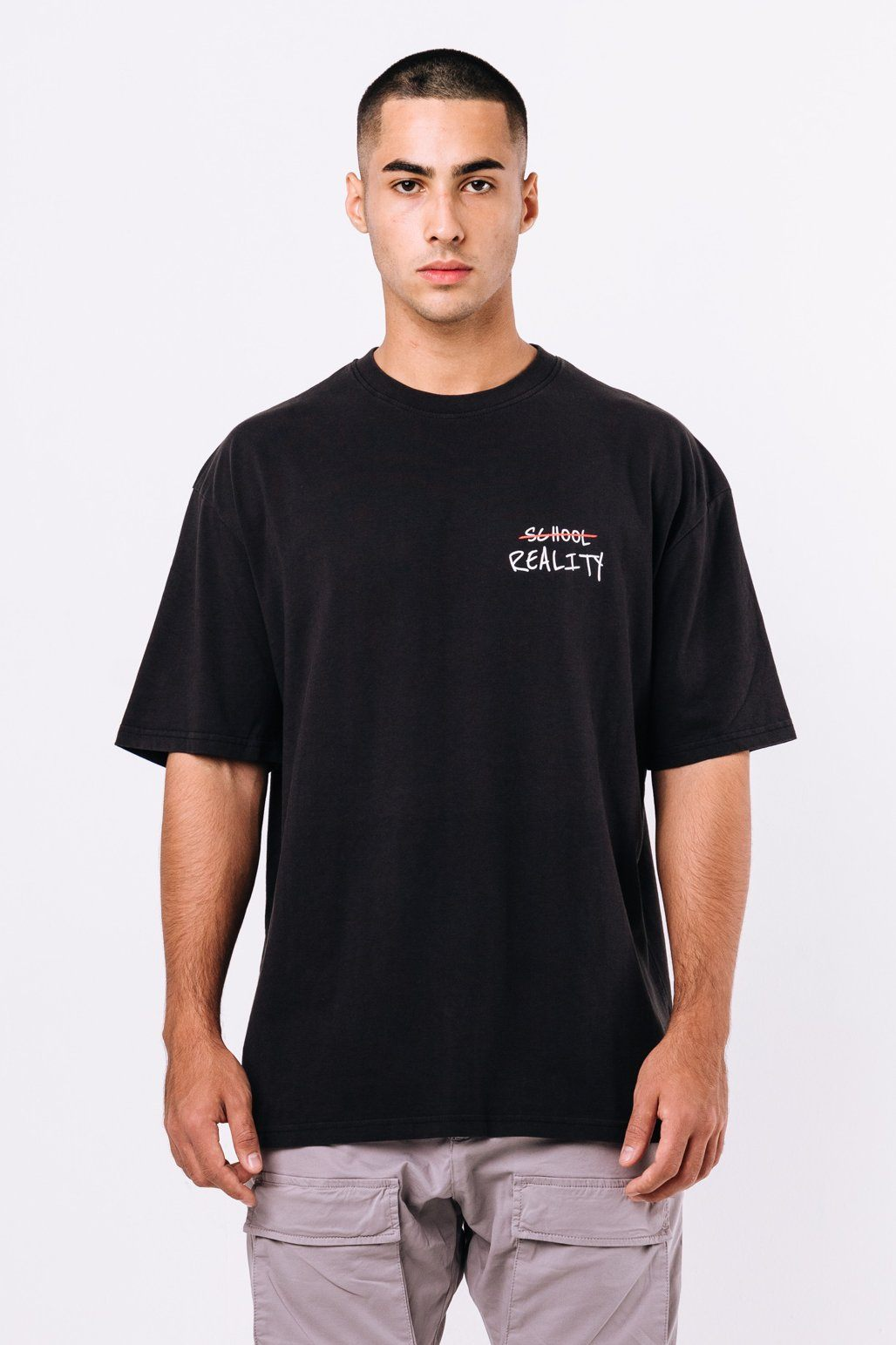 Oxford Oversized Tee Washed Black