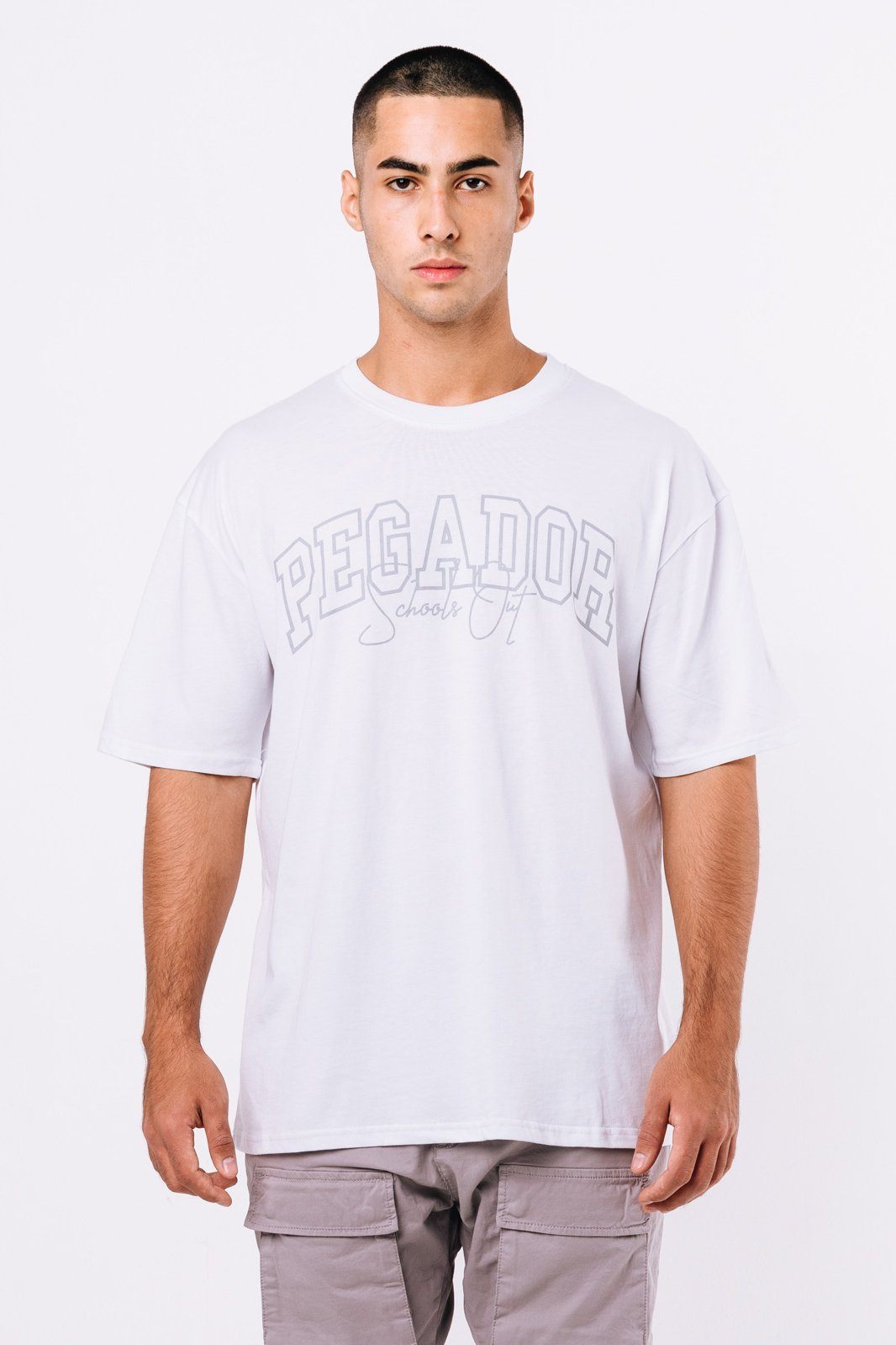 Vista Oversized Tee White T-SHIRT PEGADOR