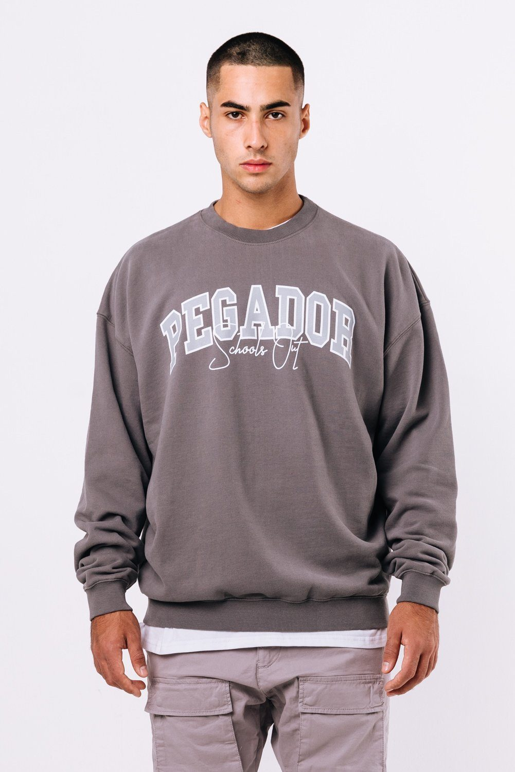 Vista Oversized Sweater Washed Charcoal Grey
