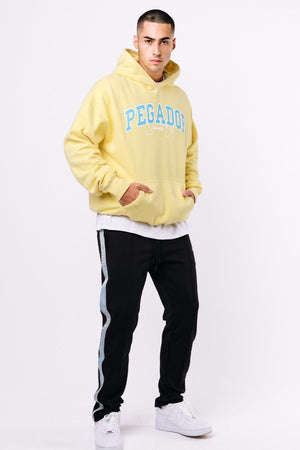 SCHOOL´S OUT - Vista Oversized Hoodie Washed Lemon - $74.95