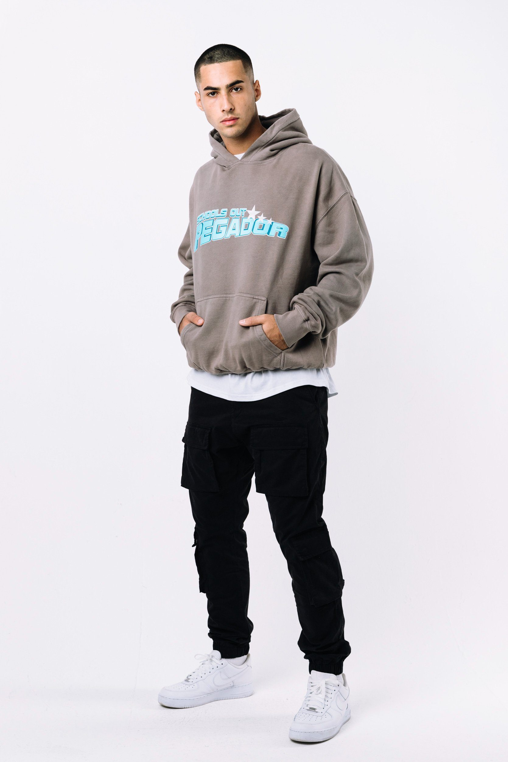 Clovis Oversized Hoodie Washed Frost Grey Hoodies PEGADOR