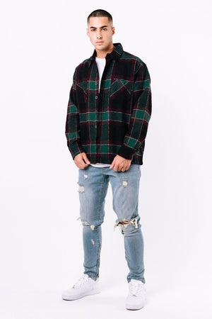SCHOOL´S OUT - Flato Round Heavy Flannel Shirt Botanic - $69.95