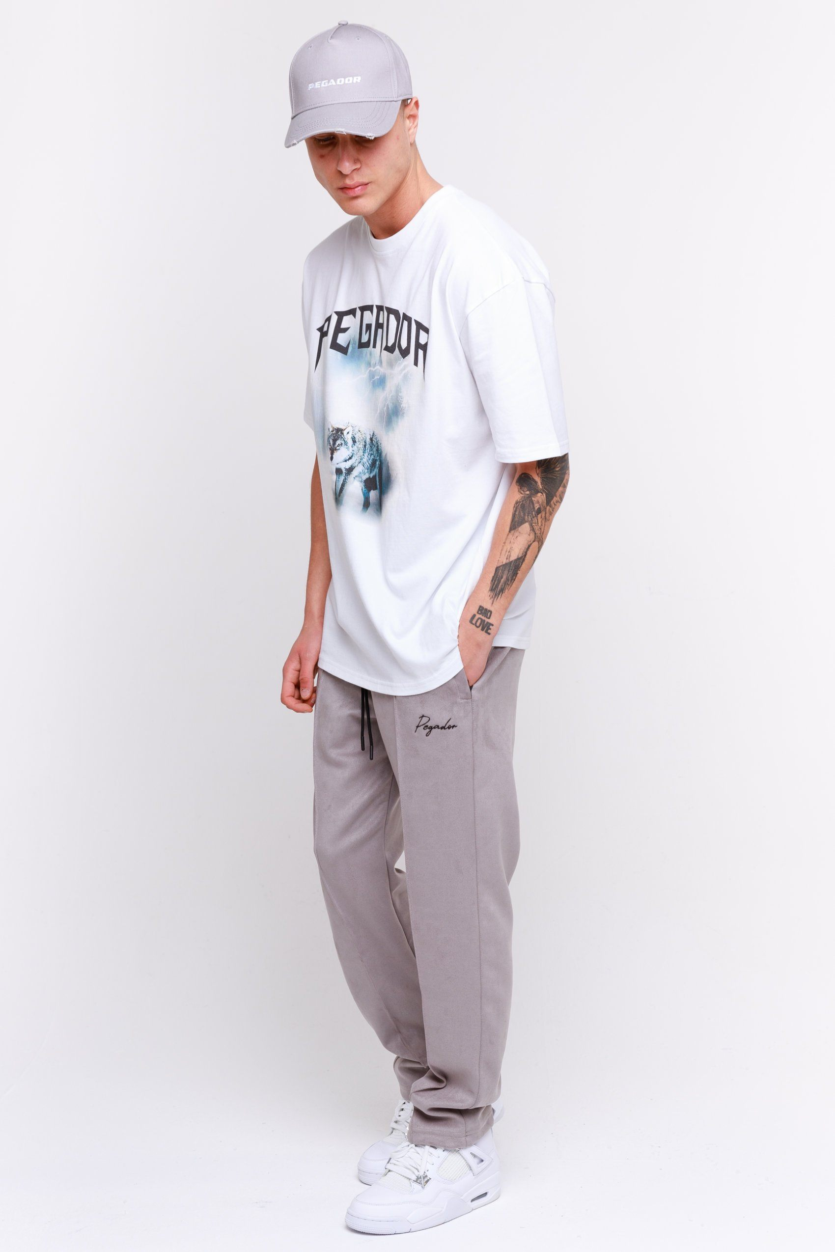 Suede Wide Pants Grey BOTTOMS Frozen