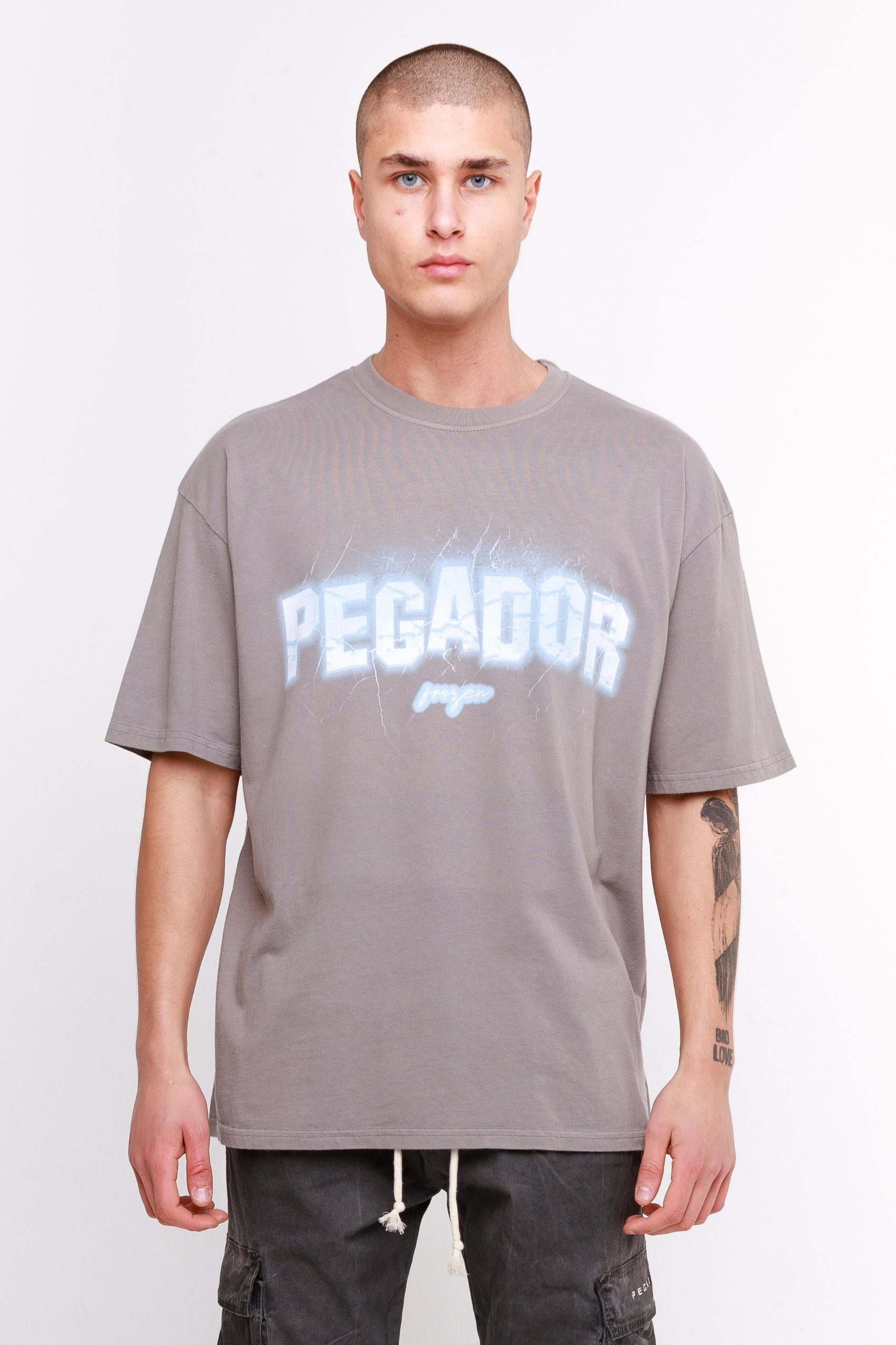 Lakes Oversized Tee Washed Frost Grey T-SHIRT Frozen