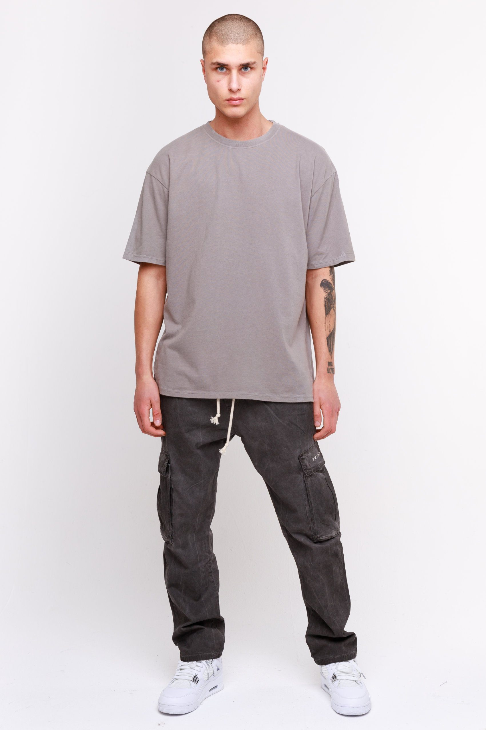 Oversized Tee Washed Frost Grey T-SHIRT Frozen