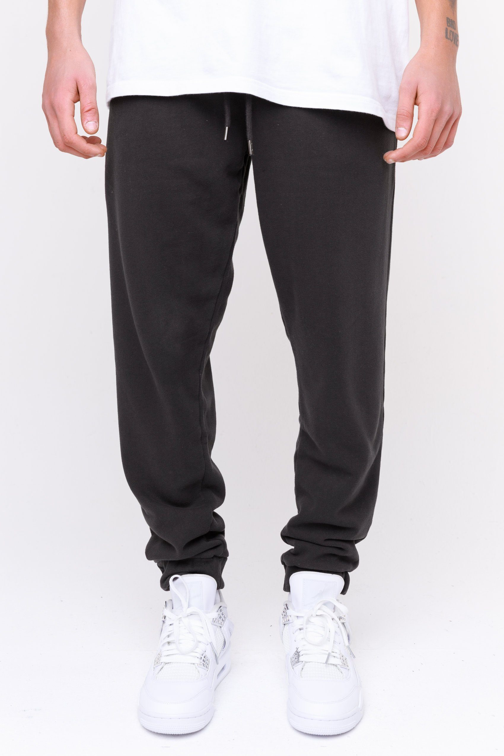 Heavy Sweat Jogger Washed Black BOTTOMS Frozen