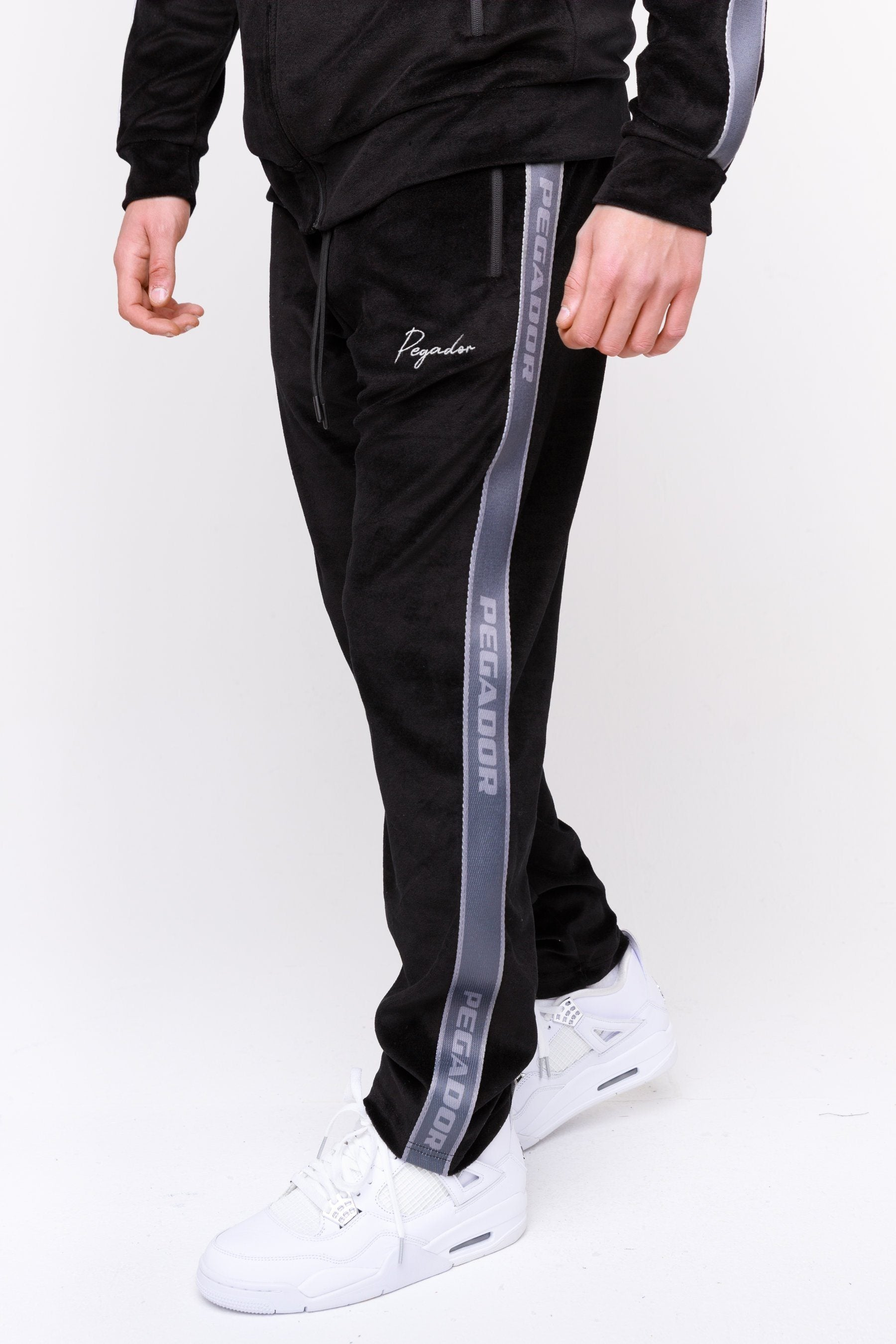 Velvet Track Pants Black BOTTOMS Frozen