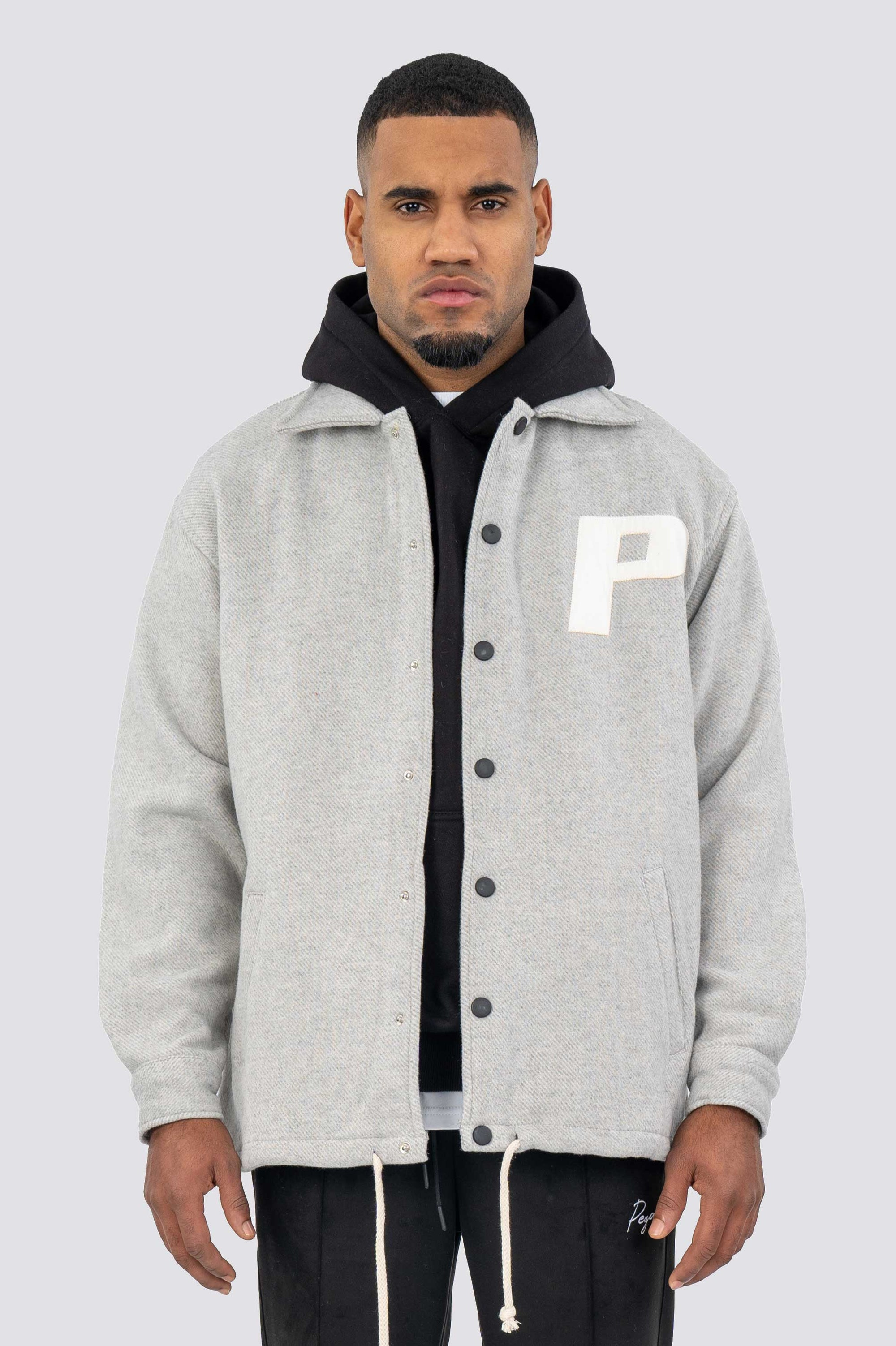 Lukka Oversized College Jacket Grey JACKET One blood