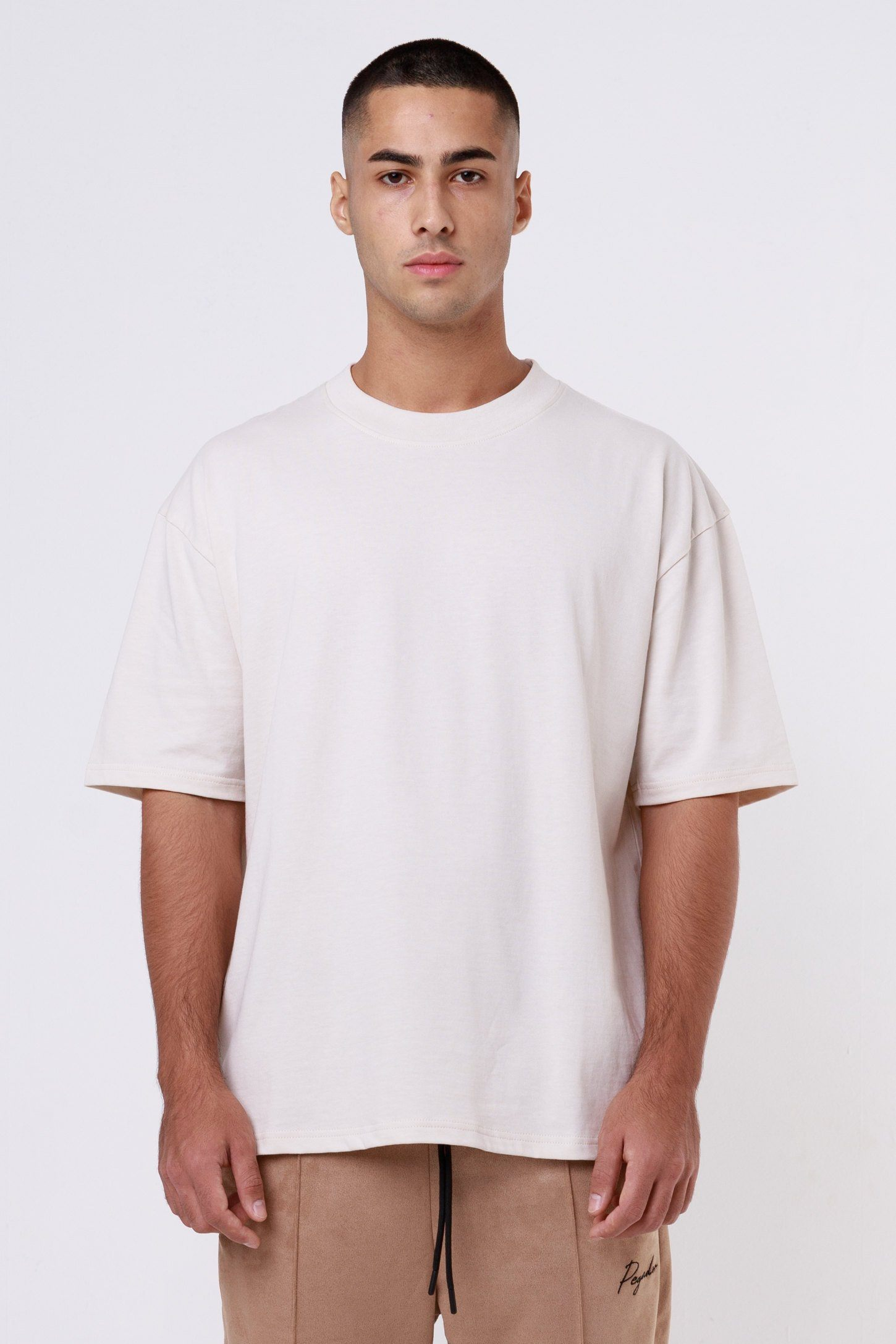 Heavy Oversized Tee Coconut Milk T-SHIRT One blood
