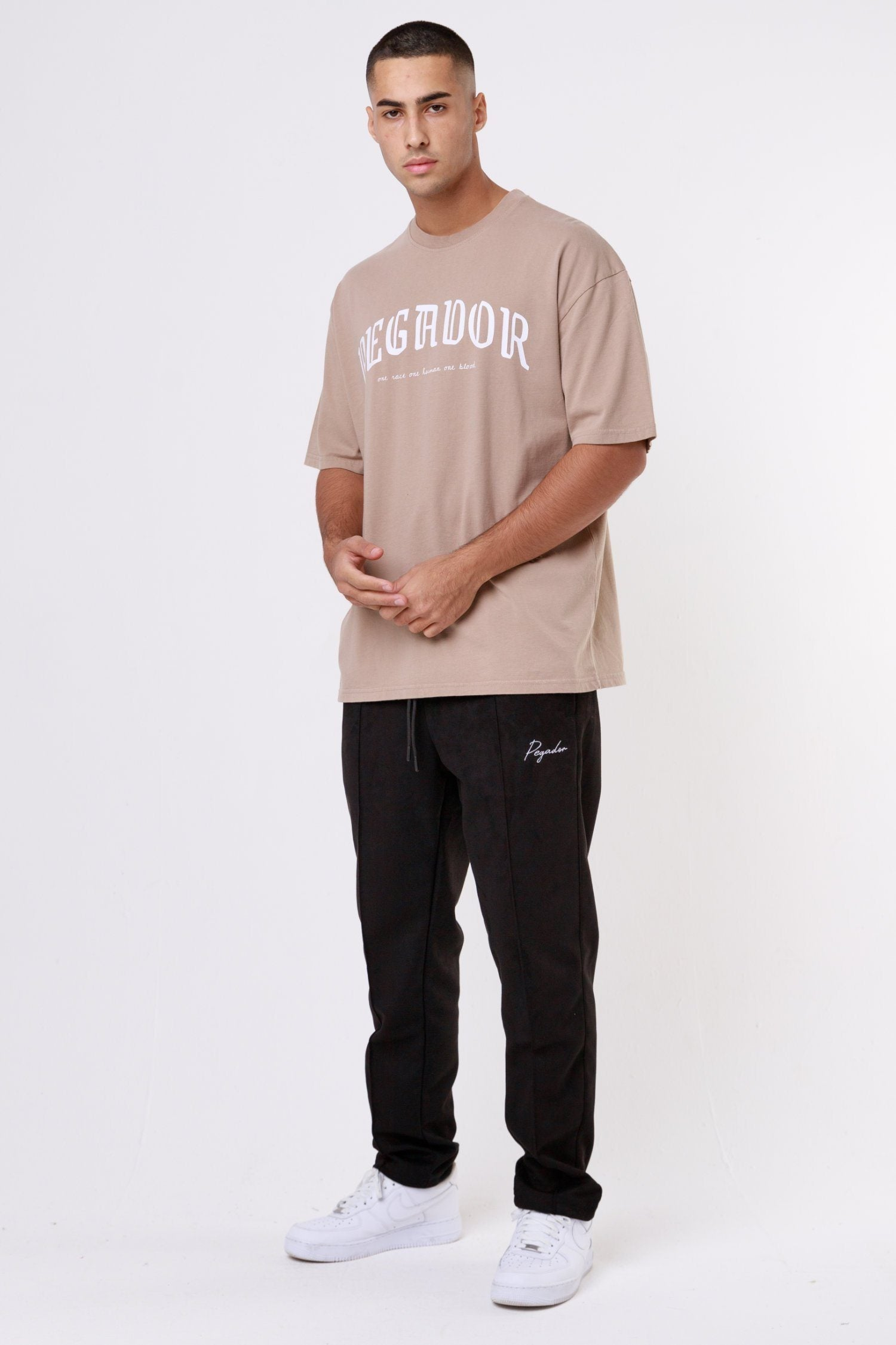 Portland Oversized Tee Washed Taupe T-SHIRT One blood