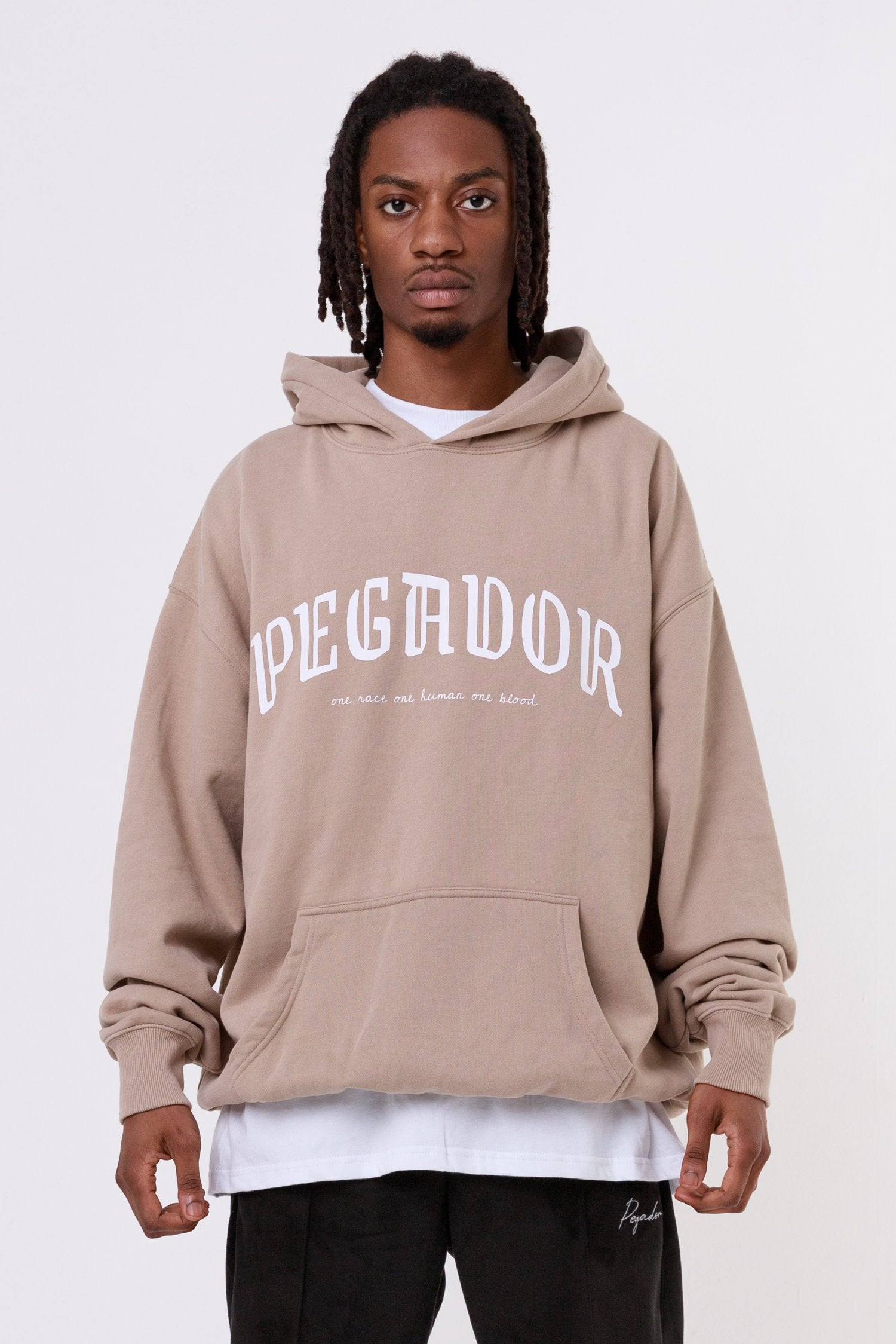 Portland Oversized Hoodie Washed Taupe Hoodies One blood