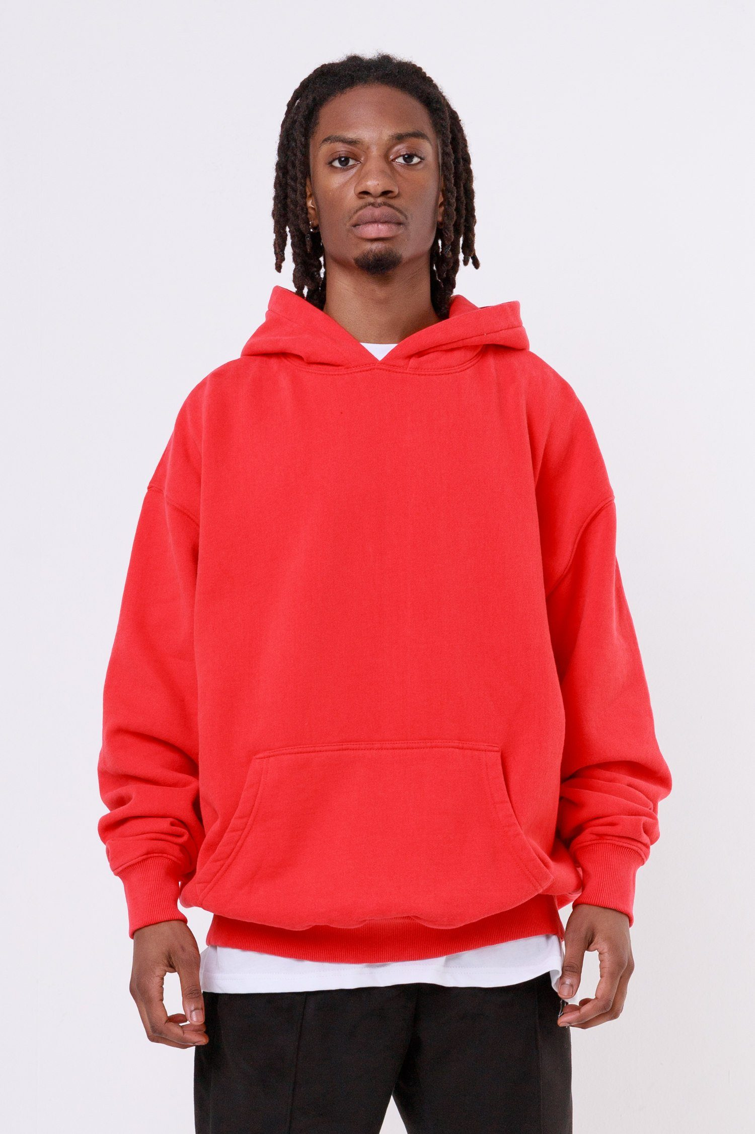 Heavy Oversized Hoodie Washed Blood Red Hoodies One blood